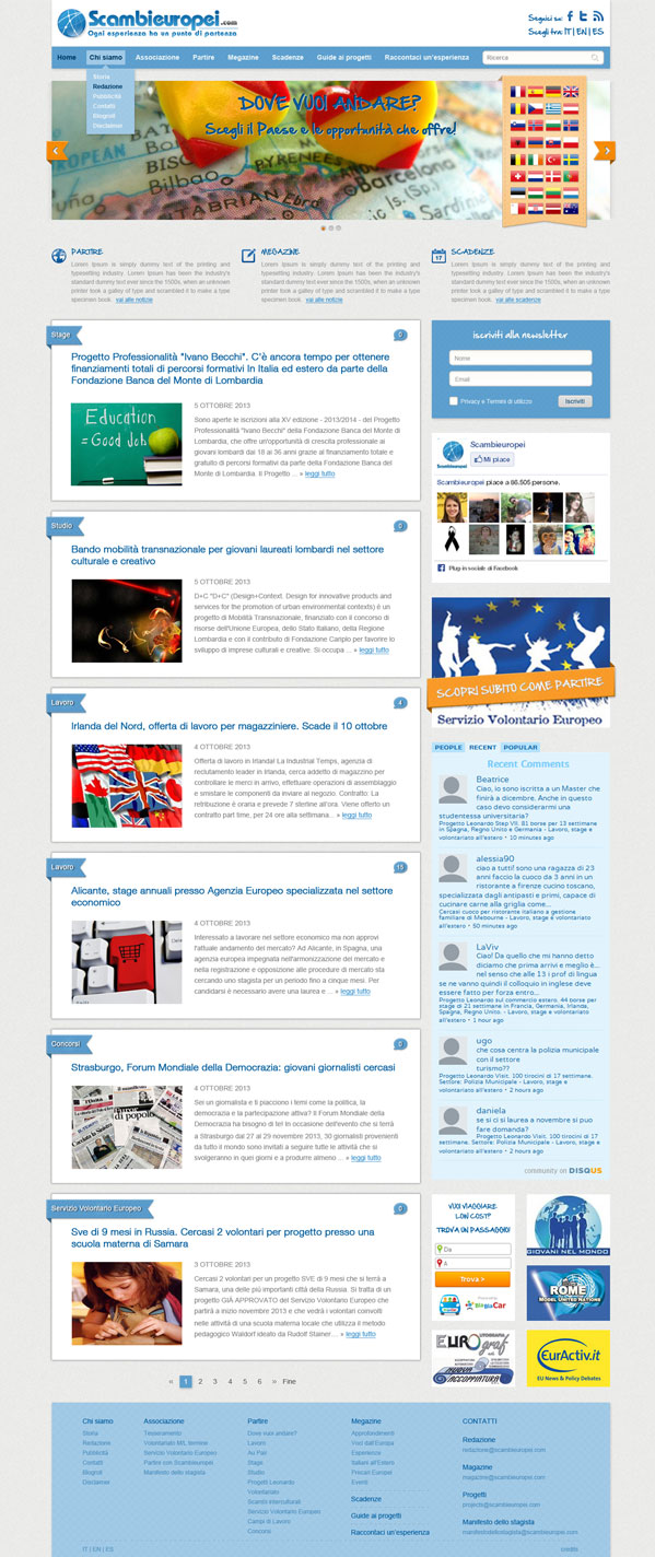 layout sito web, grafica sitoweb, layout grafico
