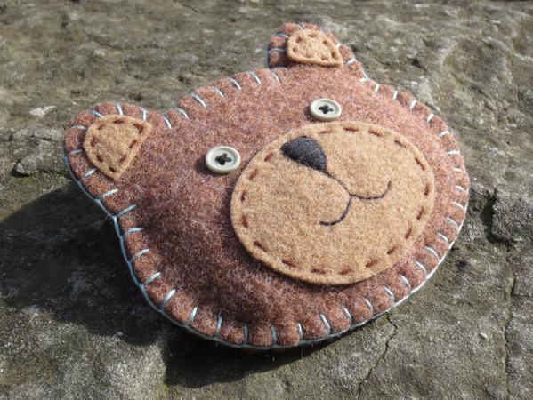 pochette, orsetto, handmade, fatto a mano