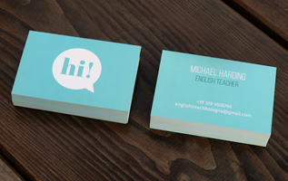 biglietti da visita; business card; english teacher; grafica; cri graphics