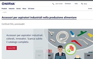 infografica; infographic; nilfisk; pulizia; aspiratori industriali; landing page; contaminazione incrociata; cri graphics