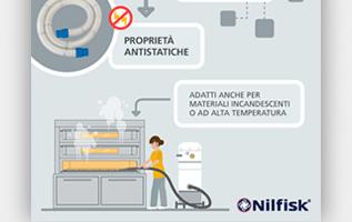 infografica; infographic; nilfisk; pulizia; aspiratori industriali; contaminazione incrociata; cri graphics